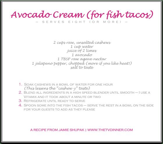 RECIPE avocado cream