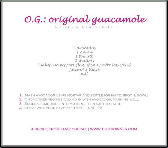 RECIPE guacamole