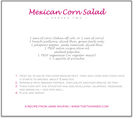 RECIPE mexican corn salad