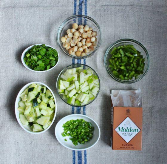 ingredients, pre-cook