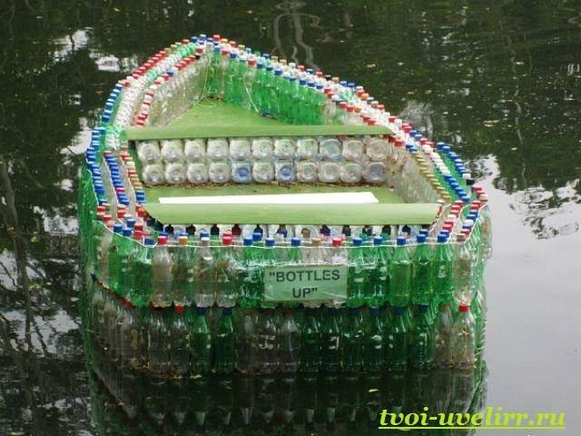 Лодка своими руками из пластиковых бутылок фото