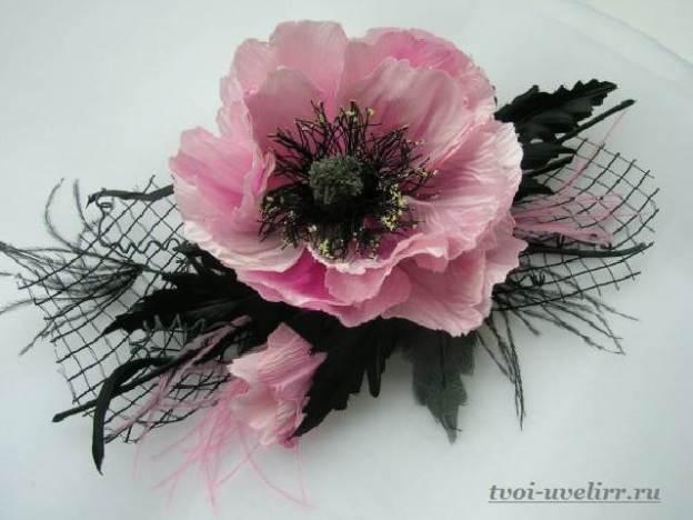 Изготовление цветов из лент своими руками