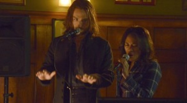 Ichabod and Abbie perform karaoke on Sleepy Hollow.