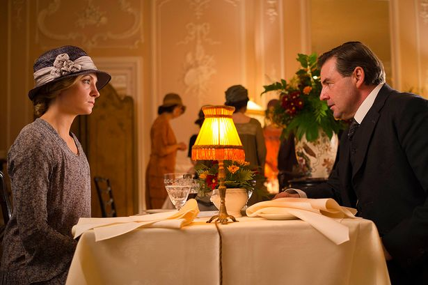 Anna and John Bates go out to dinner on Downton Abbey