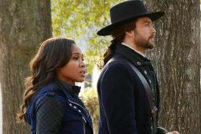 Abbie and Ichabod in 1781 on Sleepy Hollow