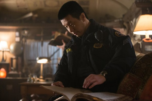"""Det. Wu in photo from the Grimm on NBC episode """"Death Do Us"""""""