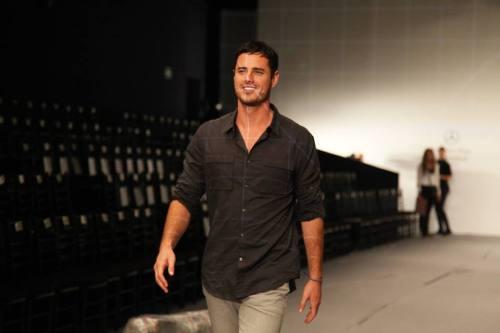 Ben Higgins models on a runway on The Bachelor