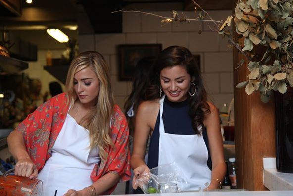 Leah and Caila cook on The Bachelor
