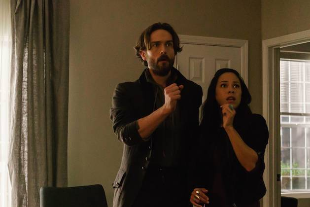 Ichabod and Sophie see something scary on Sleepy Hollow