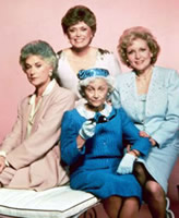 An early promotional photo of The Golden Girls on NBC