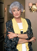 Bea Arthur as Dorothy on The Golden Girls