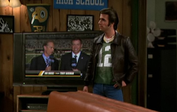 The Fonz Green Bay Packers fan