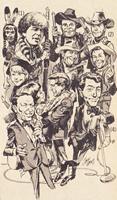 Jack Davis art for NBC & TV Guide