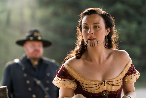 Hell on wheels amc releases final episodes photos for Tv show with tattooed woman