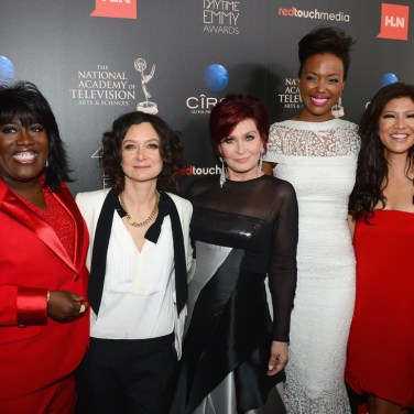 (L-R) TV personalities Sheryl Underwood, Sara Gilbert, Sharon Osbourne, Aisha Tyler and Julie Chen attend The 40th Annual Daytime Emmy Awards at The Beverly Hilton Hotel on June 16, 2013 in Beverly Hills, California. - Source: Mark Davis/Getty Images North America