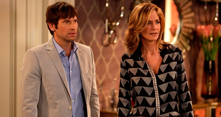 Roger Howarth (Todd) and Kassie DePaiva (Blair) in a scene airing on The OnLine Network's One Life to Live | Photo Credit: TOLN