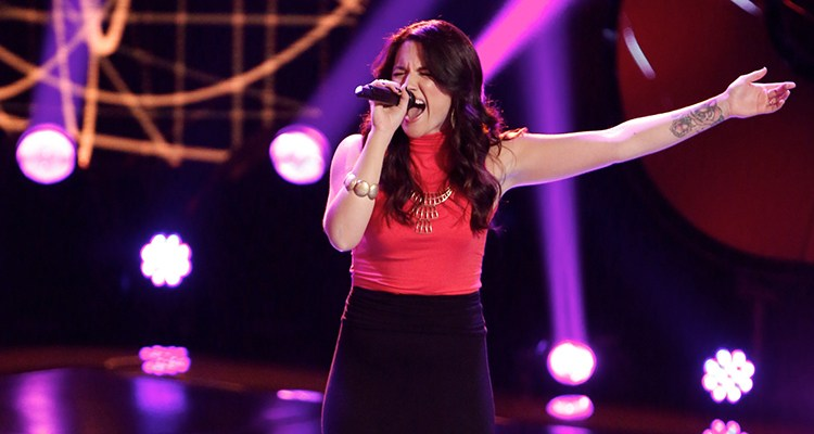 "THE VOICE -- ""Blind Auditions"" Episode 505 -- Pictured: Grey Paluszynski -- (Photo by: Tyler Golden/NBC)"