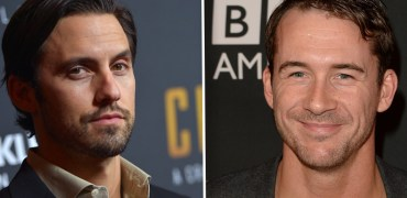 Pictured: Milo Ventimiglia and Barry Sloane. Photo credits (l) Charley Gallay/Getty Images; (r) Jason Merritt/Getty Images