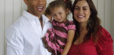 Kiko Ellsworth (Jamal Woods) and Christine Carlo (Leticia Juarez) with daughter.