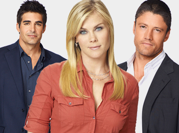 Galen Gering, Alison Sweeney and James Scott