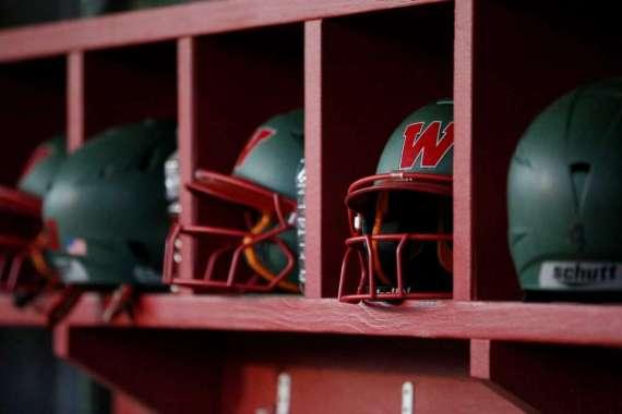 Helmets in Cubbies
