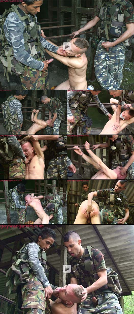 Country Boy handcuffed and gagged with cock