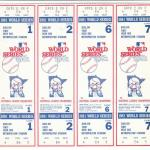 1981 Twins phantom World Series tickets. Click on the tickets tto see the full image.