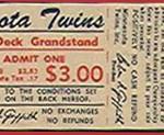 1971 Twins ticket