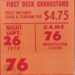 1979 Twins ticket