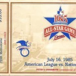 1985 All-Star game ticket for game held in the Metrodome on July 16, 1985. Click on the ticket to see the full image.
