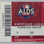 2009 Yankees ALDS ticket versus the Twins. Click on the ticket to see the full image.