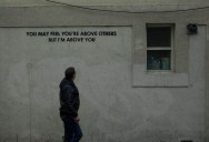 Street Artist and City Worker Have Year Long Exchange on a Red Wall inLondon