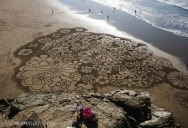 Artist Uses Rake to Create Incredible Works of Art on the Beach