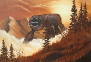 You Know Those Cheesy Thrift Shop Paintings? This Guy Adds Monsters toThem