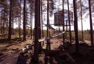 The Mirrorcube Treehotel in Sweden