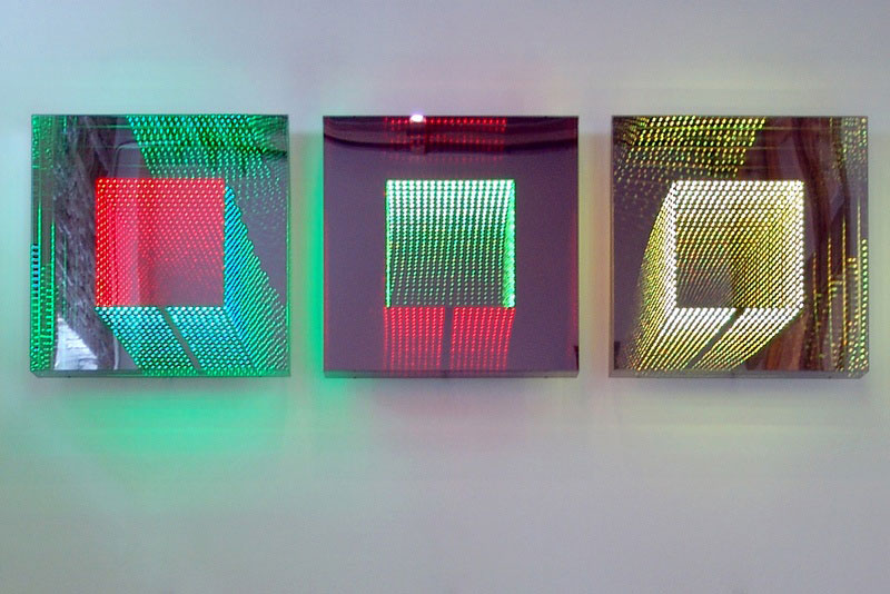 infinite LED artworks plexiglass mirrors hans kotter (4)