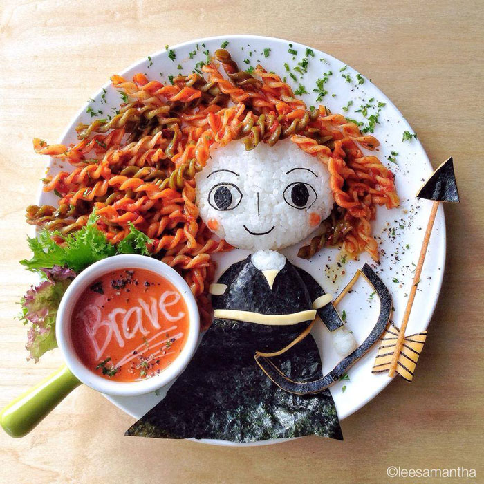 food art by lee samantha 10 This Dad Has Drawn on His Sons Lunch Bag Every Day for 2 Straight Years