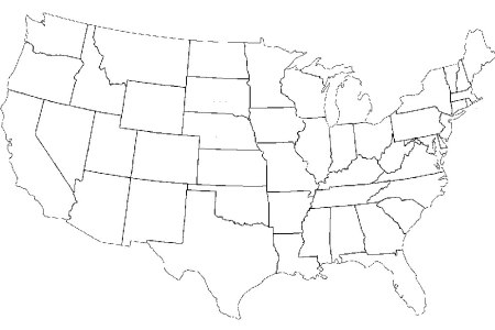 blank map of the united states «twistedsifter