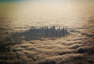 Picture of the Day: Chicago Reflected in Lake Michigan from an Airplane