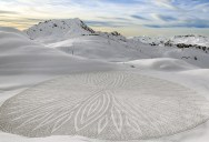 Colossal Snowshoe Art by Simon Beck