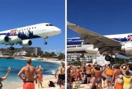Incredible Footage Captures Two Planes Almost Collide in Barcelona. Skilled Pilot SavesDay