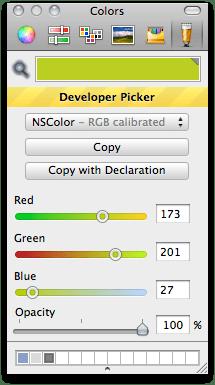 Developer Color Picker screenshot