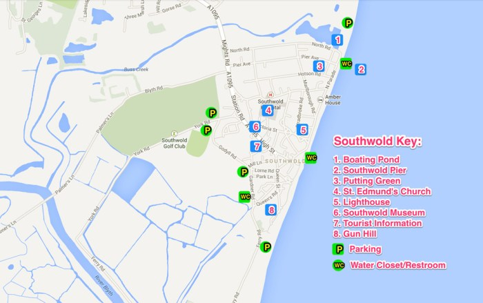 Southwold UK Map