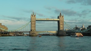 Tower Bridge on the Thames River