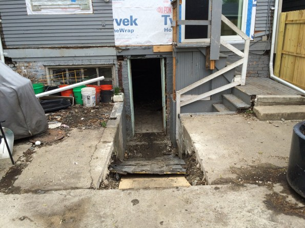 Ramp to basement