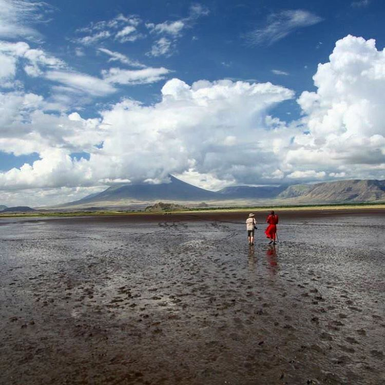 A beautiful day for a walk to Lake Natron withhellip