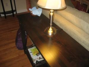 diy polish on table