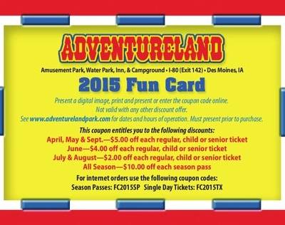 Adventureland Coupon Des Moines Iowa