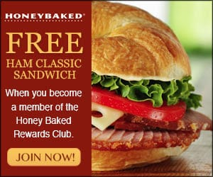 Free sandwich from Honey baked Ham