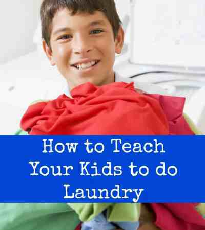 How to Teach Your Kids to do Laundry – Plus Some Great Products to Help!